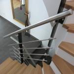 Treppengeländer Stahl u. Edelstahl