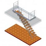 Treppe gewendelt Isometrie